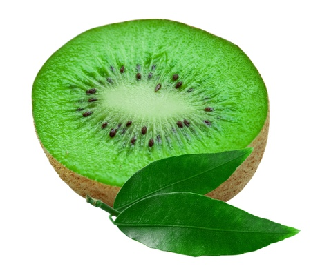 kiwi isolated on white background photo