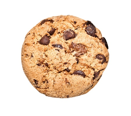 chocolate chip cookie isolated on white background Stock Photo - 12860823