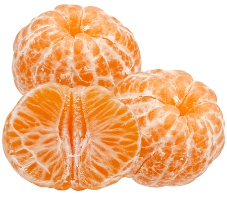 Mandarin isolated on white background Stock Photo - 12860822