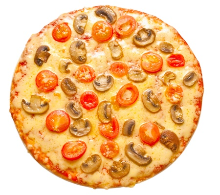 pizza isolated on white background photo