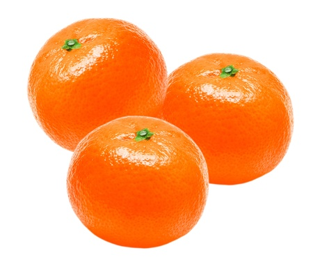 Mandarin isolated on white background Stock Photo - 12989809