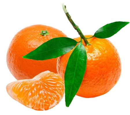 Mandarin isolated on white background Stock Photo - 13083813