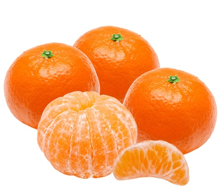 clementine: Mandarin isolated on white background