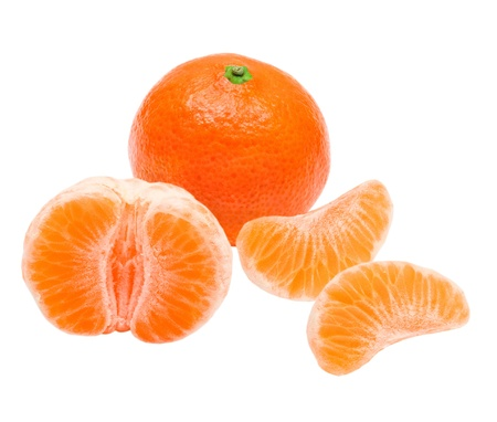 Mandarin isolated on white background Stock Photo - 13083753