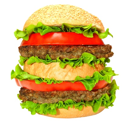 hamburger isolated on white background Stock Photo - 13111301