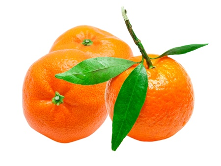 Mandarin isolated on white background Stock Photo - 13111294