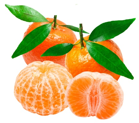 Mandarin isolated on white background Stock Photo - 13111300