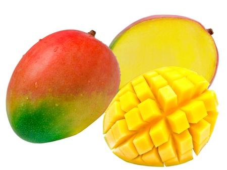 白い背景で隔離のマンゴー