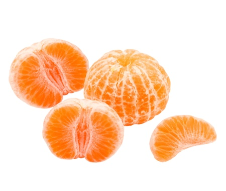 Mandarin isolated on white background Stock Photo - 13211497