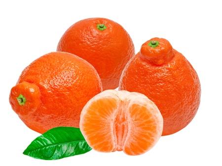 Mandarin isolated on white background Stock Photo - 13211530
