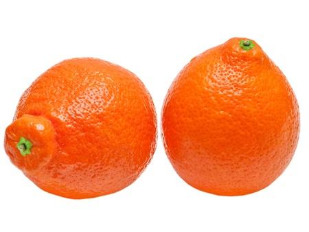 Mandarin isolated on white background Stock Photo - 13278050