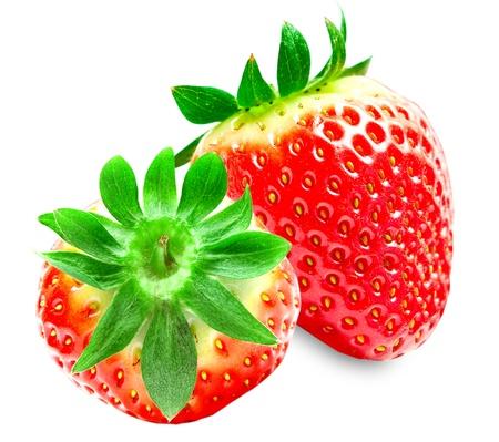 strawberry isolated on white background photo