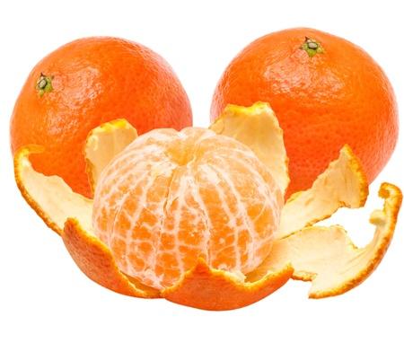 Mandarin isolated on white background Stock Photo - 13416893