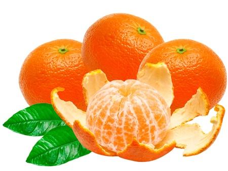 Mandarin isolated on white background Stock Photo - 13416909