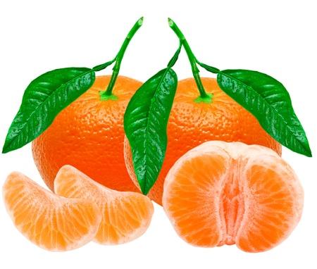 Mandarin isolated on white background Stock Photo - 13548914