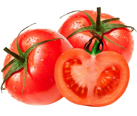 Tomato isolated on white background Stock Photo - 13677159