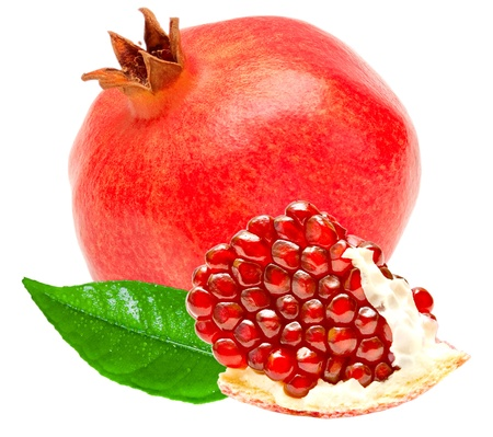 pomegranate isolated on white background Standard-Bild
