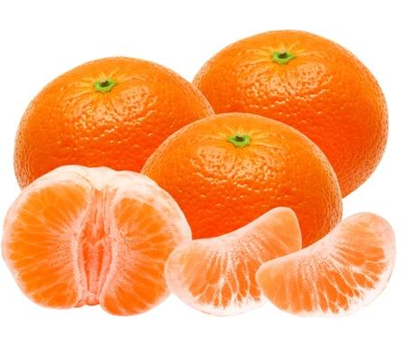 clementine fruit: Mandarin isolated on white background