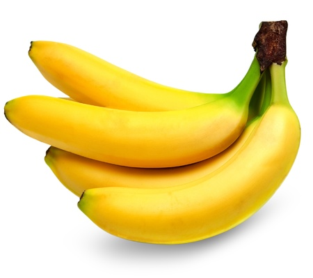 bananas isolated on white background Stock Photo - 14158808