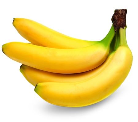 bananas isolated on white background Stock Photo - 14158808