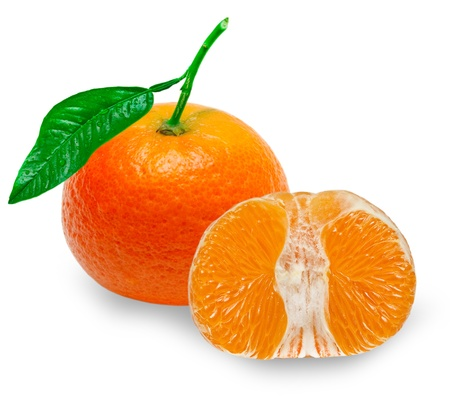 Mandarin isolated on white background Stock Photo - 14158818