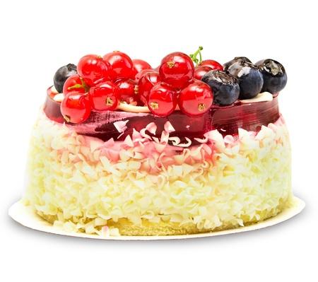 Cake isolated on white background photo