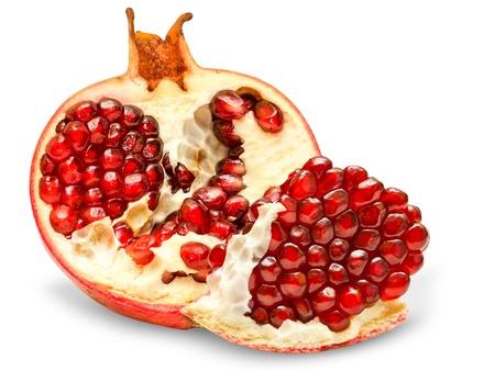 grenadine: pomegranate isolated on white background Stock Photo