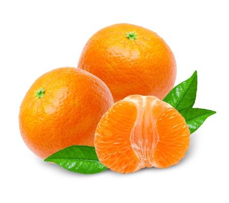 Mandarin isolated on white background Stock Photo - 14289378
