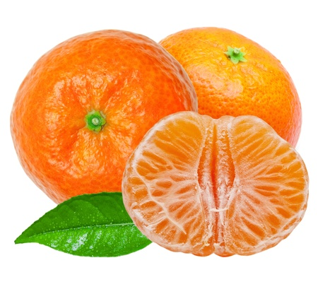 Mandarin isolated on white background Stock Photo - 14405073