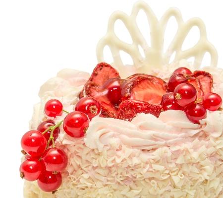 白い背景で隔離のケーキ 写真素材