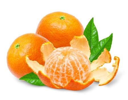 Mandarin isolated on white background Stock Photo - 14648219