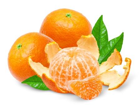 Mandarin isolated on white background photo