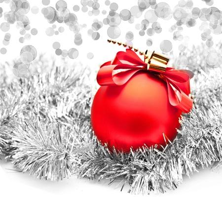 Christmas ball on lighten background Stock Photo