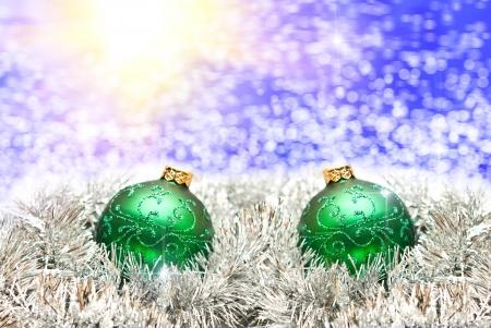 lighten: Christmas ball on lighten background Stock Photo