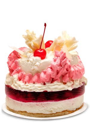 slice cake: Torta isolato su sfondo bianco Archivio Fotografico