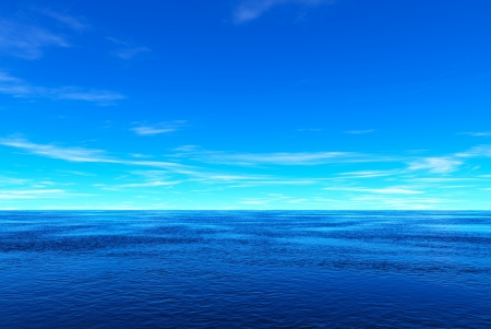 Blue sea and sky photo