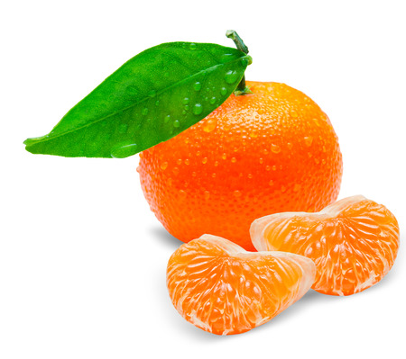 Mandarin isolated on white background photo