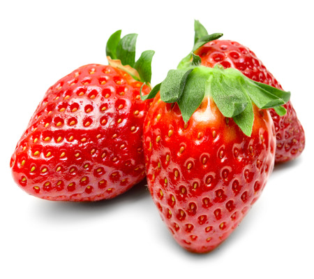 strawberry isolated on white background photo