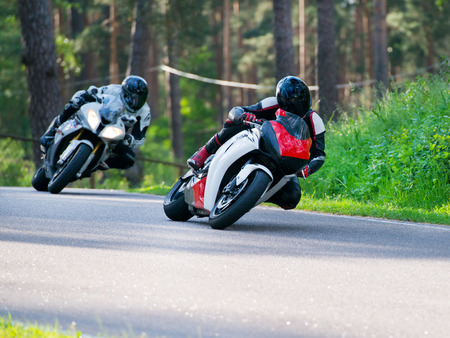 Motorbike racing photo