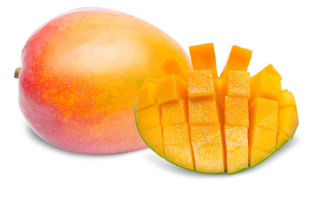 mango: Mango isolated on white background