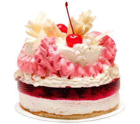 Gâteau isolée sur fond blanc