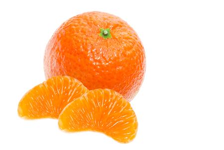 juicy: Juicy orange tangerine isolated on white background