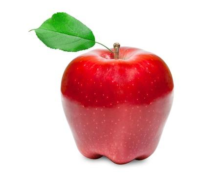 pomme rouge: Fruits pomme rouge isolé sur fond blanc Banque d'images
