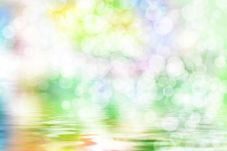 vivid: Bright vivid colorful sunny abstract bokeh background Stock Photo