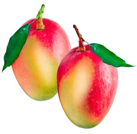 juicy: Juicy dessert mango isolated on white background Stock Photo