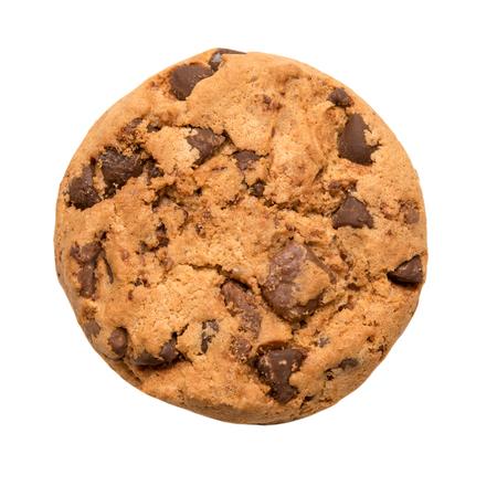 Chocolate chip cookie geïsoleerd op wit Stockfoto