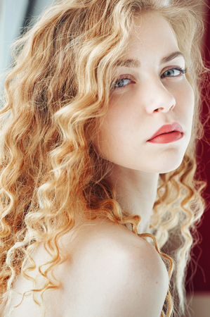 Portrait of a beautiful young woman Archivio Fotografico