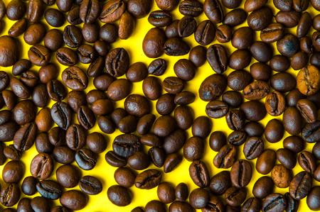 Coffee beans, top view Banco de Imagens