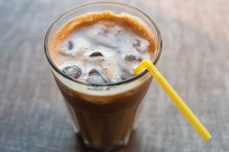 Iced coffee, closeup