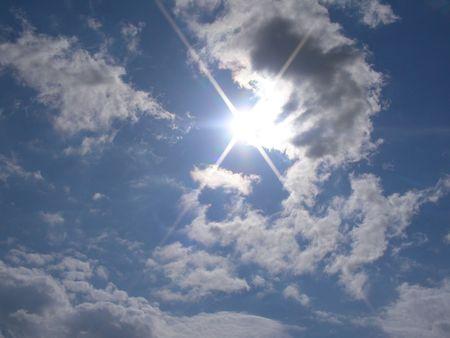 하늘은 끝이없는 광경이다. 스톡 콘텐츠